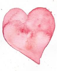 heart watercolor background design