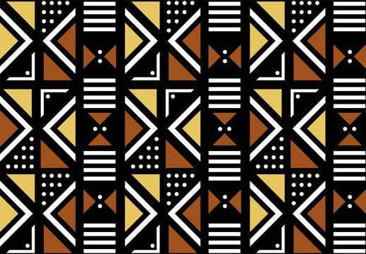 Geometric Mud Cloth Design