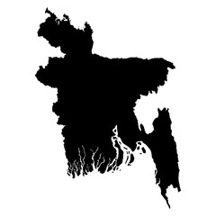 Bangladesh map on white background vector