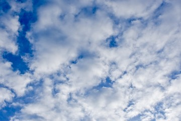 Soft white clouds in a blue sky