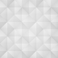 seamless pattern with abstract, geometric ornament. white vector background. origami style wallpaper design