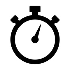 Simple stopwatch timer flat icon for apps and websites