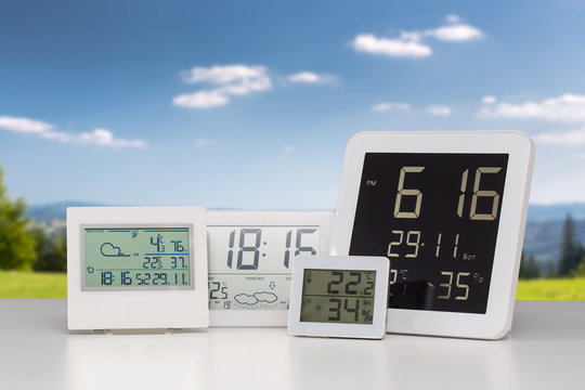 Weather station device.