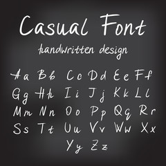 Casual handwritten font design