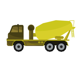cement mixer on white background