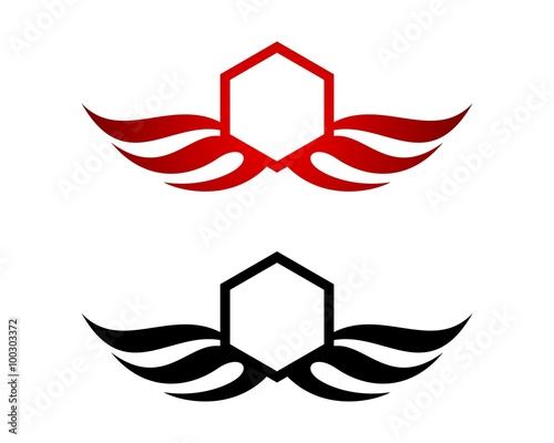 wing crest hexagon logo stock image and royalty free vector files rh fotolia com free vector files for download free vector files for cricut