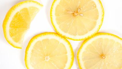 Lemon yellow on a white background