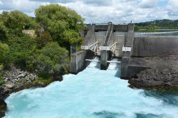 Aratiatia Rapids Dam near Taupo - New Zealand