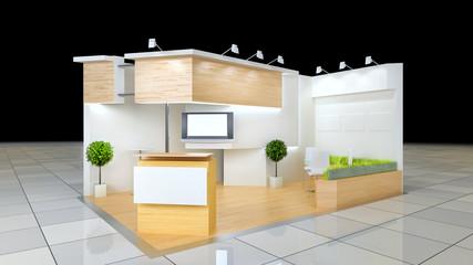 exhibition stand clean design