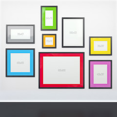 gallery wall and frames with defined sizes