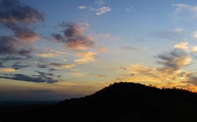 Twilight sky over the mountain