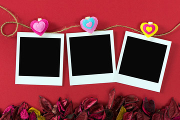 Instant photo frames for Valentine's theme