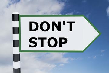 Don't Stop concept