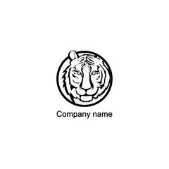 Tiger logo.Vector