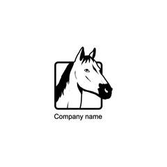 Horse logo.Vector