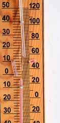 Thermometer with broken glass pipe
