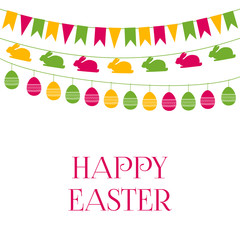 Easter greeting card with garlands