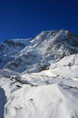Ciaspole sotto il Monte Rosa, Macugnaga, Piemonte