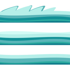 Water Wave. Vector Illustration For Your Design. Flowing Background With Halftone