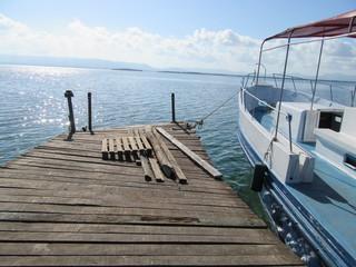 Rickety jetty in Cuba