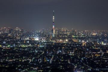 東京 夜の街並み