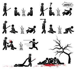 Men icon halloween horror kills with knife