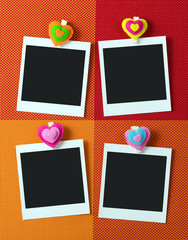 Photo frames with heart shape peg