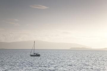 Yacht off Isle of Skye; Scotland, UK