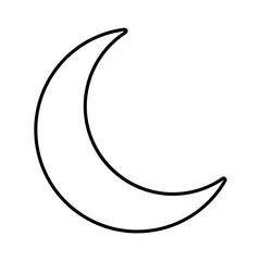 Moon line icon