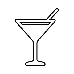 Coctail line icon