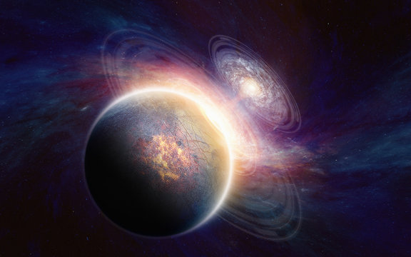 Planet in deep space