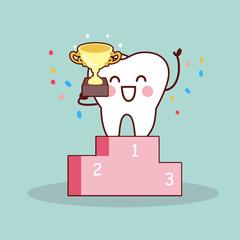 cartoon tooth winner