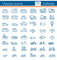 Vehicle,Vector icons.