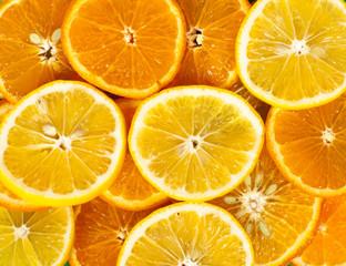 lemons and oranges background