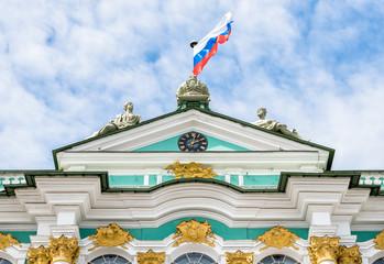 Facade of Hermitage Museum - Winter Palace closeup, Saint Petersburg, Russia