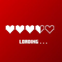 Love loading. Progress bar. Vector illustration.