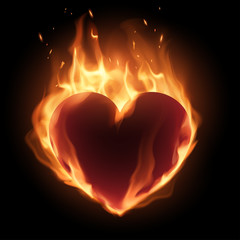 Heart in flame