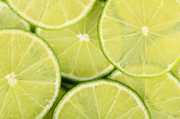 The fresh lime a background closeup