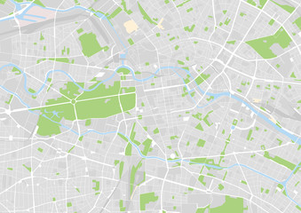 vector city map of Berlin, Germany