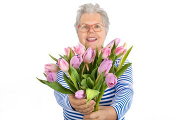 frische Tulpen im Strauß