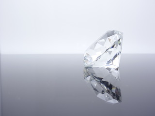 Brilliant Diamond close up, Luxury gemstone background