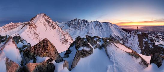 Wall Murals Mountains Slovakia mountain lanscape panorami in Tatras.