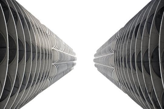 Closeup of Contemporary Tower