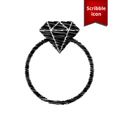 Diamond icon. Scribble icon for you design.