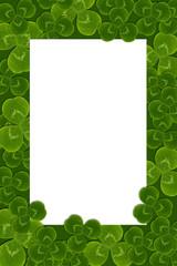 frame leaves clover trefoil shamrock  pattern