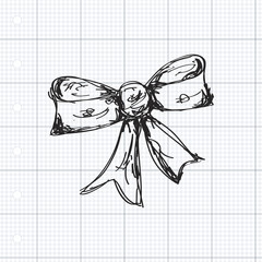 Simple doodle of a bow