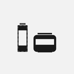 set cosmetic hair mask black icon