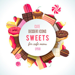 Background for sweets company logo