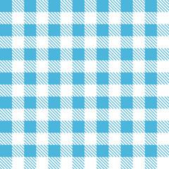Tartan plaid seamless pattern. Kitchen checkered blue tablecloth fabric background.