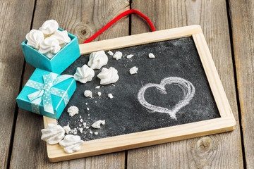 Love and Valentine Day decoration with gift box